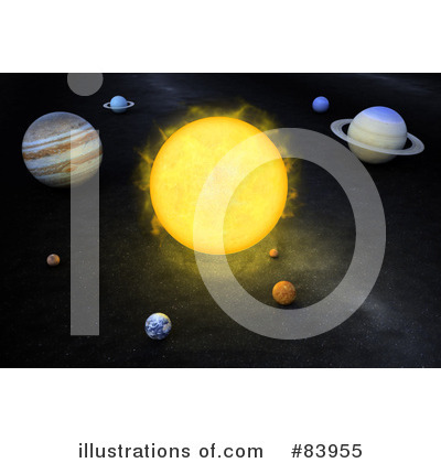 Royalty-Free (RF) Solar System Clipart Illustration by Mopic - Stock Sample #83955