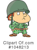 Royalty-Free (RF) Soldier Clipart Illustration #1048213