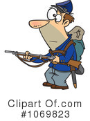 Royalty-Free (RF) Soldier Clipart Illustration #1069823
