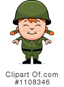 Royalty-Free (RF) Soldier Clipart Illustration #1108346