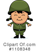 Royalty-Free (RF) Soldier Clipart Illustration #1108348