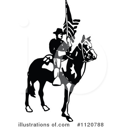 Royalty-Free (RF) Soldier Clipart Illustration by Prawny Vintage - Stock Sample #1120788