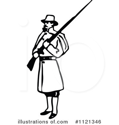 Royalty-Free (RF) Soldier Clipart Illustration by Prawny Vintage - Stock Sample #1121346