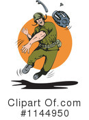Royalty-Free (RF) Soldier Clipart Illustration #1144950