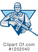 Soldier Clipart #1202040 by patrimonio