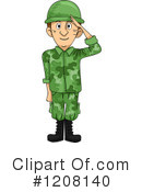 Soldier Clipart #1208140 by BNP Design Studio