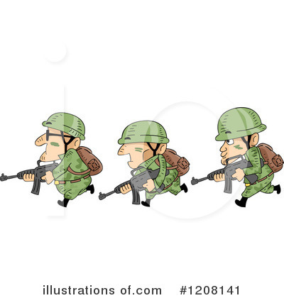 Royalty-Free (RF) Soldier Clipart Illustration by BNP Design Studio - Stock Sample #1208141