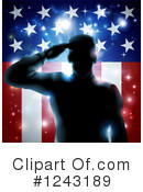Soldier Clipart #1243189 by AtStockIllustration