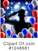 Royalty-Free (RF) Soldier Clipart Illustration #1248681