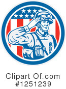 Royalty-Free (RF) Soldier Clipart Illustration #1251239