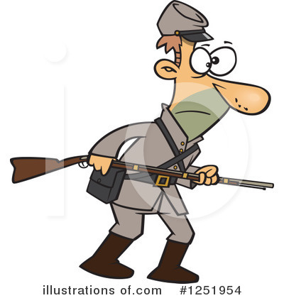 Confederate Soldier Clipart #1251954 by toonaday