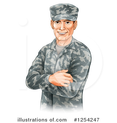Soldier Clipart #1254247 by AtStockIllustration