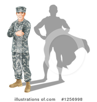 Soldier Clipart #1256998 by AtStockIllustration