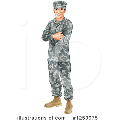 Soldier Clipart #1259975 by AtStockIllustration
