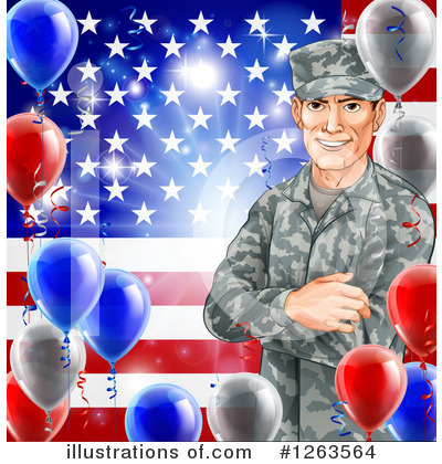 Memorial Day Clipart #1263564 by AtStockIllustration