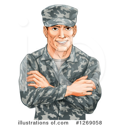 Soldier Clipart #1269058 by AtStockIllustration