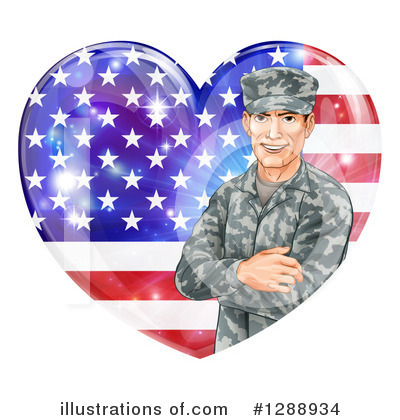 Soldier Clipart #1288934 by AtStockIllustration