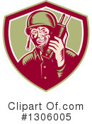 Soldier Clipart #1306005 by patrimonio