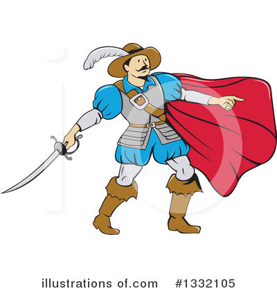 Musketeer Clipart #1332105 by patrimonio