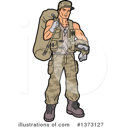 Soldier Clipart #1373127 by Clip Art Mascots