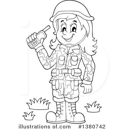 Royalty-Free (RF) Soldier Clipart Illustration by visekart - Stock Sample #1380742