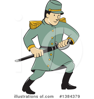 Confederate Soldier Clipart #1384379 by patrimonio
