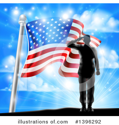 American Flag Clipart #1396292 by AtStockIllustration