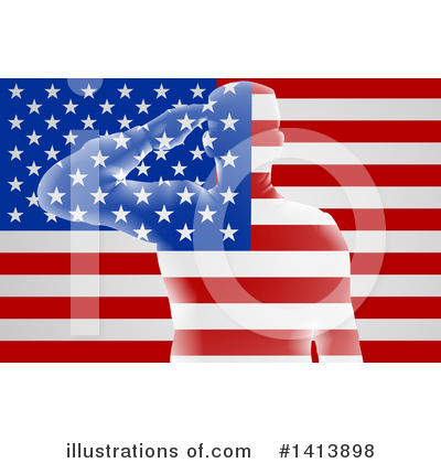 Memorial Day Clipart #1413898 by AtStockIllustration