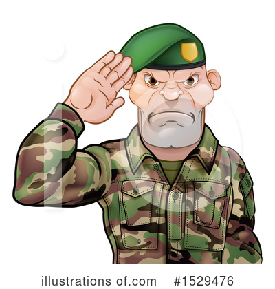 Royalty-Free (RF) Soldier Clipart Illustration by AtStockIllustration - Stock Sample #1529476