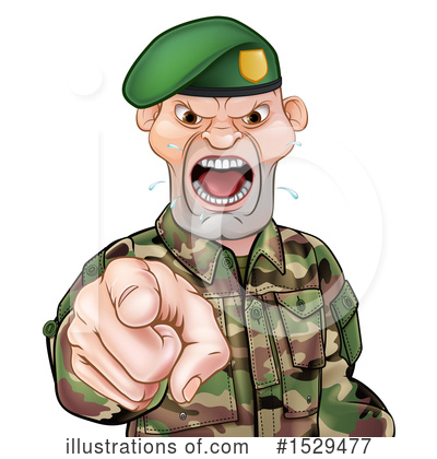 Soldier Clipart #1529477 by AtStockIllustration