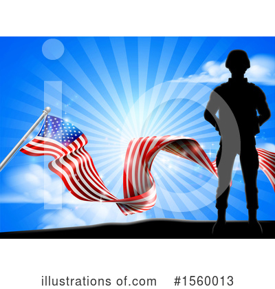 Royalty-Free (RF) Soldier Clipart Illustration by AtStockIllustration - Stock Sample #1560013
