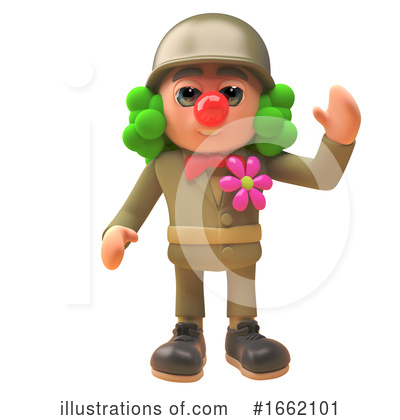 Clown Clipart #1662101 by Steve Young
