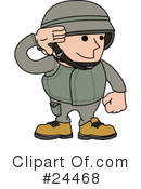 Royalty-Free (RF) Soldier Clipart Illustration #24468