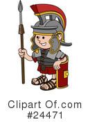 Royalty-Free (RF) Soldier Clipart Illustration #24471