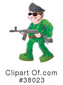 Royalty-Free (RF) Soldier Clipart Illustration #38023