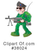 Royalty-Free (RF) Soldier Clipart Illustration #38024
