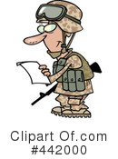 Royalty-Free (RF) Soldier Clipart Illustration #442000