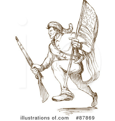 Royalty-Free (RF) Soldier Clipart Illustration by patrimonio - Stock Sample #87869