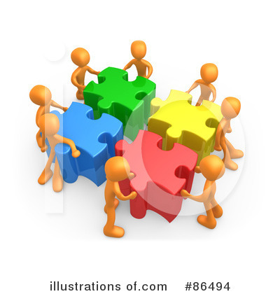 Royalty-Free (RF) Solutions Clipart Illustration by 3poD - Stock Sample #86494