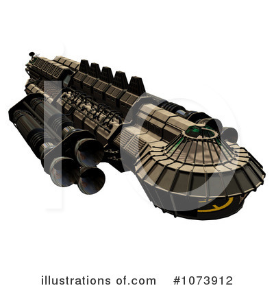 Royalty free rf spaceship clipart illustration by ralf61 stock
