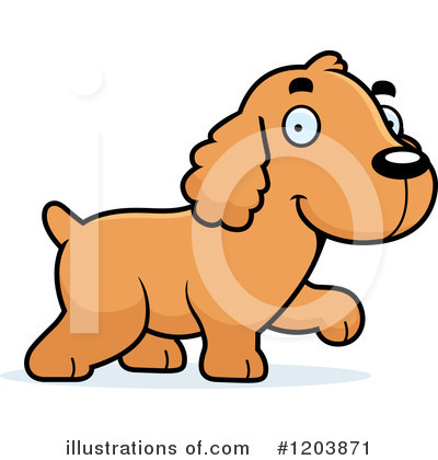 Spaniel Clipart #1203871 by Cory Thoman