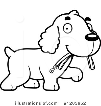 Royalty-Free (RF) Spaniel Clipart Illustration by Cory Thoman - Stock Sample #1203952