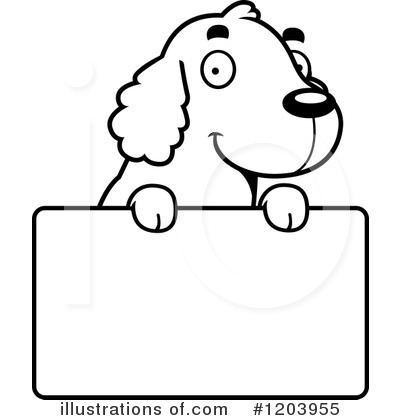 Spaniel Clipart #1203955 by Cory Thoman
