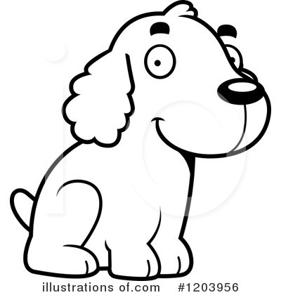 Spaniel Clipart #1203956 by Cory Thoman
