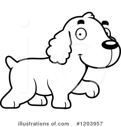 Spaniel Clipart #1203957 by Cory Thoman
