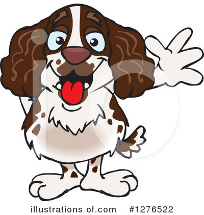 Royalty-Free (RF) Spaniel Clipart Illustration by Dennis Holmes Designs - Stock Sample #1276522