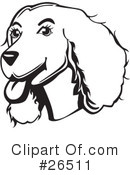 Spaniel Clipart #26511 by David Rey