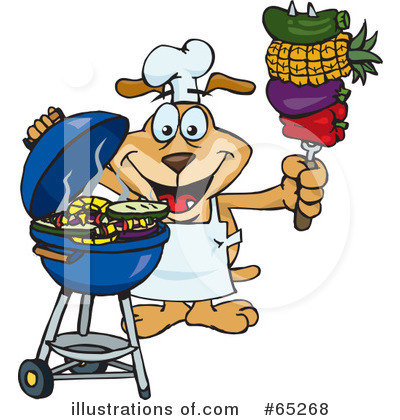 Barbecue Clipart #65268 by Dennis Holmes Designs
