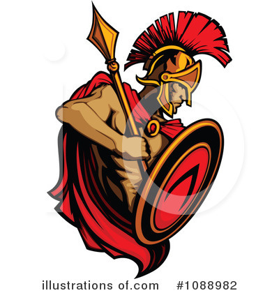 Spartan Clipart #1088982 by Chromaco