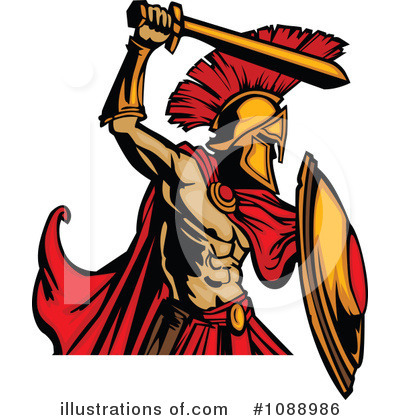 Spartan Clipart #1088986 by Chromaco